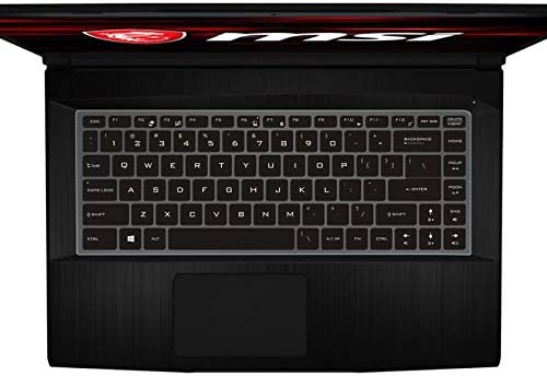 Leze - Keyboard Cover Compatible with MSI GF63 PS63 GS65 GF65 WS65 WP65 P65 PS42 & Bravo 15 Gaming Laptop, MSI 15M Creator Laptop - Black