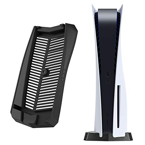 DLseego PS5 縦置きスタンド 通常版 中空デザイン 散熱対策 放熱性 安定向上 安定性 省スペース 便利性 ネジを使わず プレイステーション5に対応 ブラック