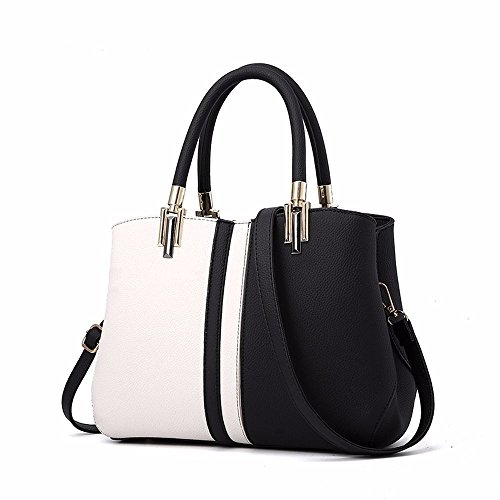 Women Bags Handbag Shoulder Bags PU Leather Fashion Crossbody Purse, Black