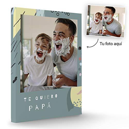 Fotoprix Lienzo Personalizado con Foto para Papá | Regalo Original día del padre | Varios diseños y tamaños (Padres 4, 30 x 40 cms)