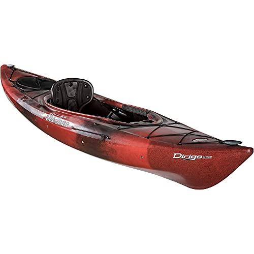 Old Town Canoes & Kayaks Dirigo 106 Recreational Kayak, Black Cherry, 6 Inches, Length 10 ft