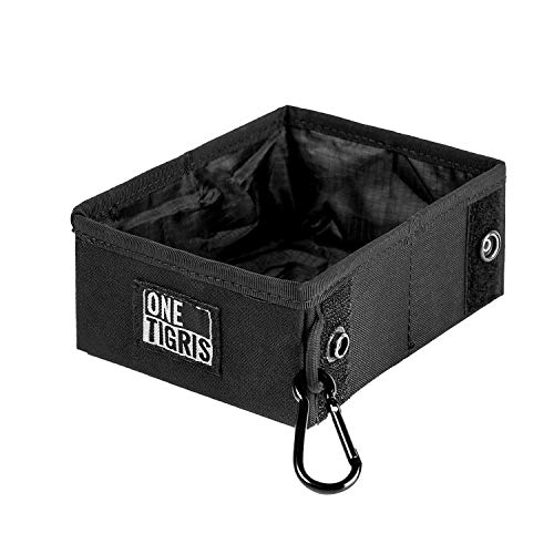 OneTigris Faltbar Hundenapf Reisenäpfe Trinknapf unterwegs Futtertasche für Hunde Training und Outdoor-Aktivitäten |MEHRWEG Verpackung