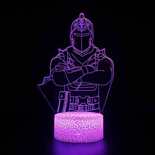 3D LED Nachtlicht CartoonbildIllusionslicht Nachtlicht für Kinder, mit wiederaufladbarem USB farbwechselnde Dekoration mit leichtem Touch Schönes Geschenk