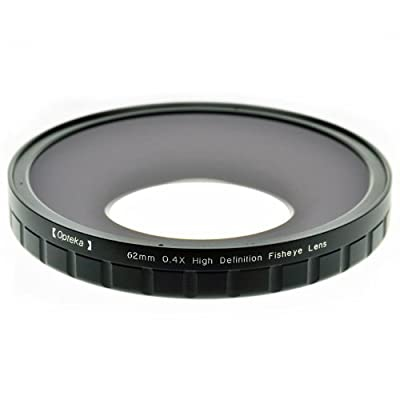 Opteka 62mm 0.4X HD2 Large Element Fisheye Lens for Professional Video Camcorders from Opteka