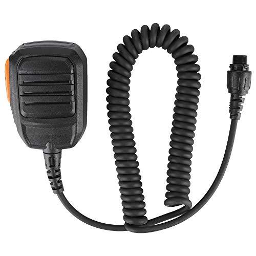 Bewinner 8-core handmicrofoon met luchtvaartkop - PTT-knop is flexibel, clip aan achterzijde kan 360 graden worden gedraaid - Walkie Talkie-microfoon voor MD780 MD680 MD78XG