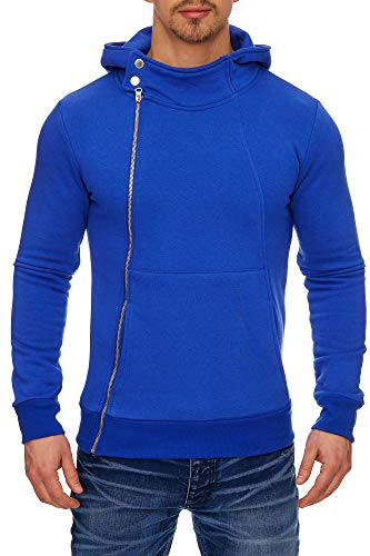 Tazzio Style Herren Strickjacke Hoodie Sweatjacke 17204 (XL, Royalblau-1)