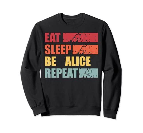 ALICE ALICE - Camisa con nombre personalizado Sudadera