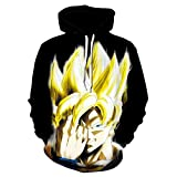 Sudadera con Capucha Anime Dragon Ball,con Impresión Digital 3D de...