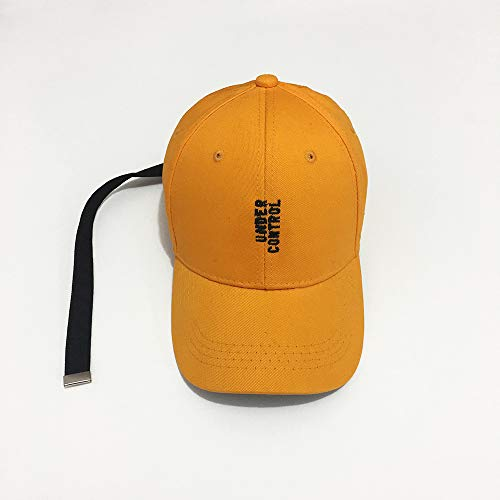 geiqianjiumai Kleine gele hoed brief lengte riem Baseball Cap geel Hip Hop Hoed Flut mannen en vrouwen Hoed schaduw