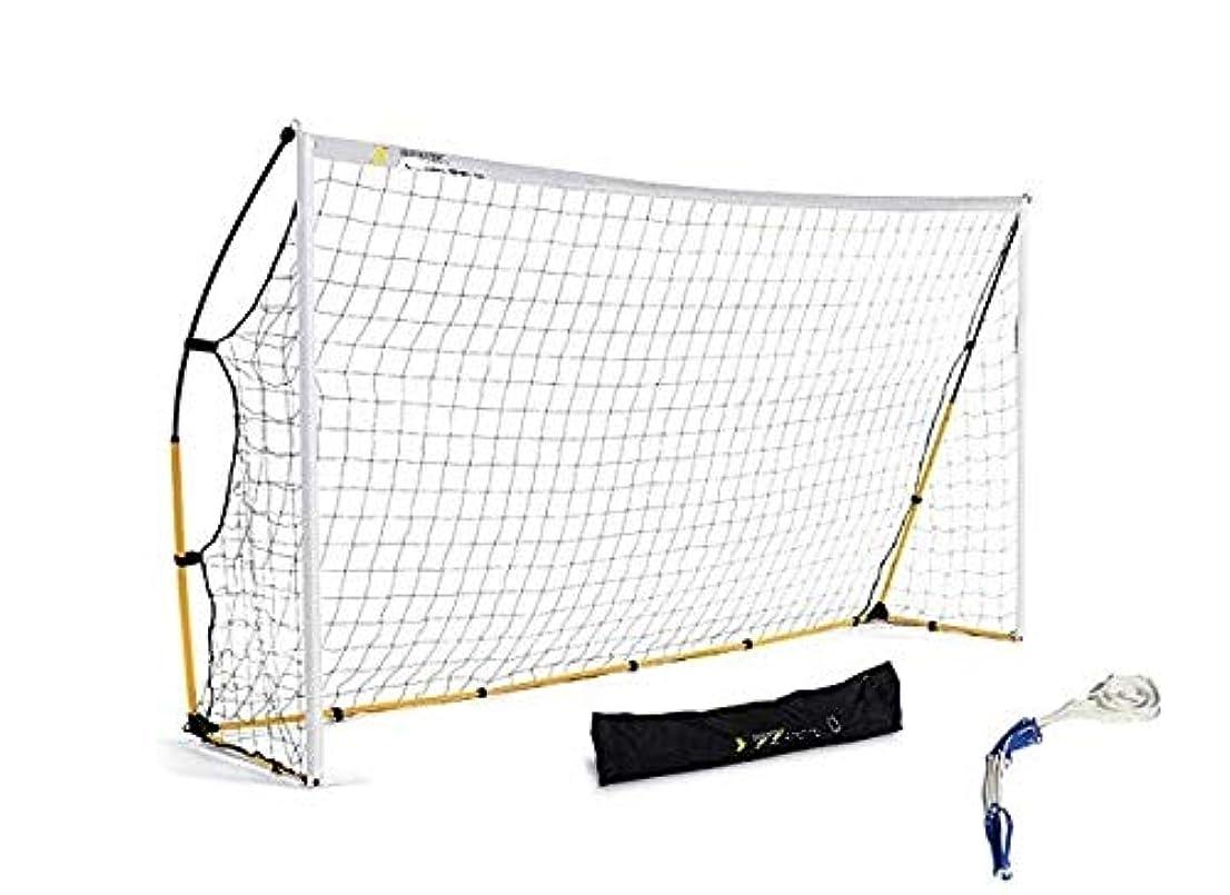 ヒロイン余暇クローゼットX-Jang サッカーゴール 折りたたみ 少年用 大人用 フットサル用ゴール 3.6m×2m 組み立て式ゴール ポータブル サンドバッグ(土嚢袋)、グラウンドネイル、ボールネット、収納袋(付)