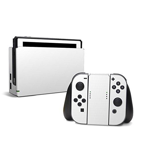 Skins4u Designfolie Aufkleber Skin Sticker kompatibel mit Nintendo Switch Design Solid State Weiss