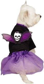 Casual Canine Skull Costume Set for Pets, Medium, Black