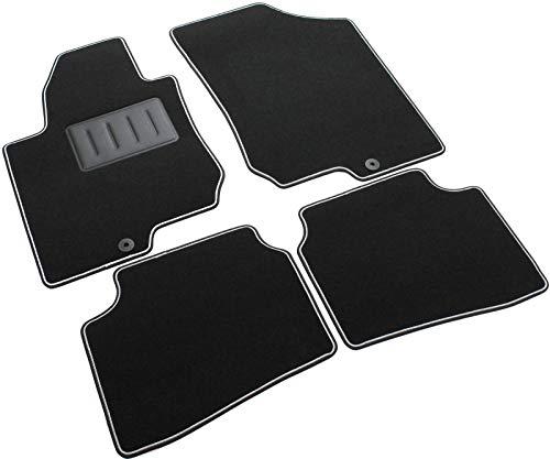Il Tappeto Auto - Alfombrilla para Coche con Base de Goma Reforzada y Antideslizante, Color Negro, B