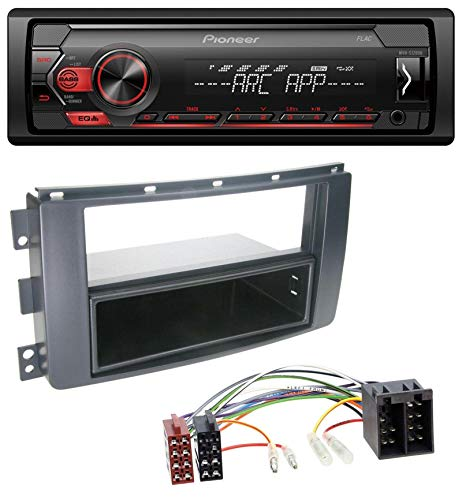 caraudio24 Pioneer MVH-S100UB USB AUX MP3 1DIN Autoradio für Smart ForFour 454 ForTwo 451 ISO