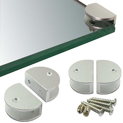 Regal-Halter Glasbodenträger - Stabile Regalträger für Glas- und Holzböden - verschiedene Varianten (4 Stück)