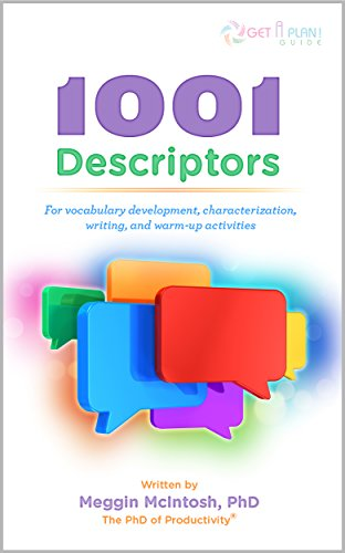 1001 Descriptors for Vocabulary Development, Characterization, Writing, and Warm-Up Activities (English Edition)