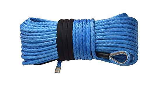 NKJH Linie synthetische Winde 14mm * 45m Blau Synthetisches Seil, ATV Winch-Kabel for elektrische Winschen, Zugseile for Offroad-Auto (Color : Blue)