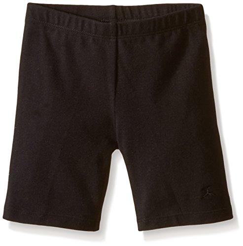 Danskin Little Girls' Bike Short, Black, Small (4-6)