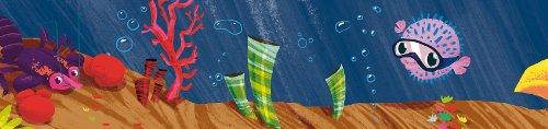 """Wandpiraten Tapeten Bordüre Borte """"Unterwasserwelt"""" 340 x 11,5 cm selbstklebend"""