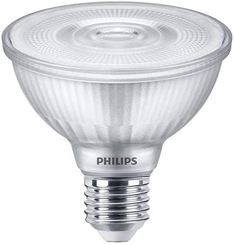 Paquete de 6 bombillas Philips 9,5 W = 75 W ES E27 830 luz blanca cálida regulable PAR30 reflectora