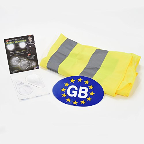 phare d'air lentille Fresnel + Go Euro Sticker + haute visibilité Gilet sans manches pour homme