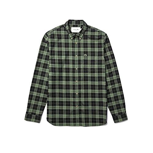 Lacoste Herren CH2565 Klassisches Hemd, Noir/Minetique Chine, S