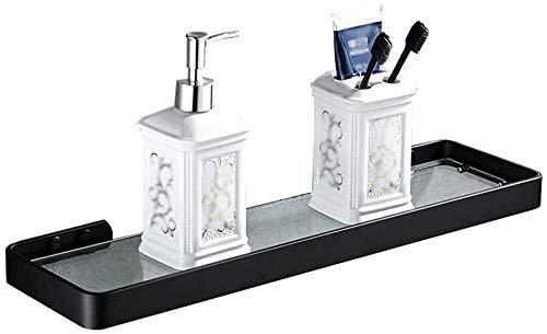 JXXDQ Estante de baño, bolsa de almacenamiento de ducha, vidrio templado extra grueso, aleación de zinc, acabado pulido de pared (4 tamaños opcionales) estante de baño (tamaño: 49 x 12 x 3 cm)