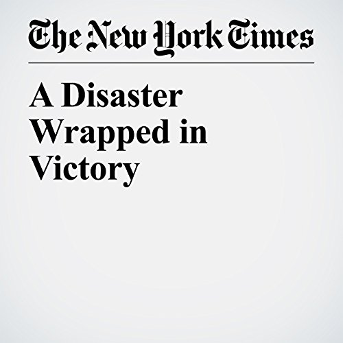 A Disaster Wrapped in Victory copertina