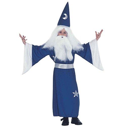 Déguisement de magicien Gandalf costume d'enchanteur pour enfant 158 cm 12-14 ans Tenue de mage sorcier Merlin cape de magicien pour enfant anniversaire de petit déguisement de carnaval garçons