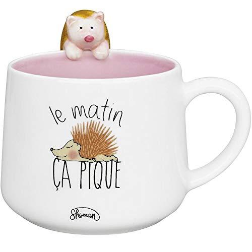 Le Fabuleux Shaman 40-2X-010 Mug Animal 3D Hérisson Le Matin