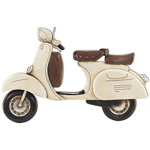 CAPRILO. Adorno Pared Decorativo de Metal Moto Scooter. Cuadros y Apliques. Muebles Auxiliares. Decoración Hogar. Regalos Originales. 62 x 2 x 41 cm.