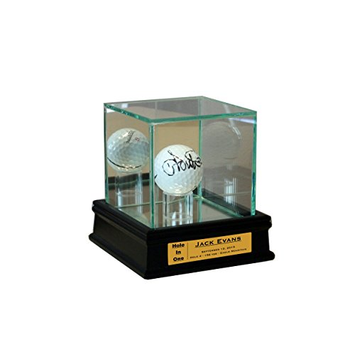 Personalized Golf Ball Display Case for Hole in One
