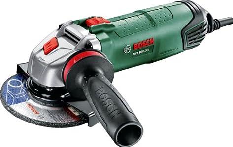 Bosch Home and Garden 0.603.3A2.700 Amoladora con maletín, 220 V, Negro, Verde, 850 W, Ø125 mm, empuñadura anti vibraciones