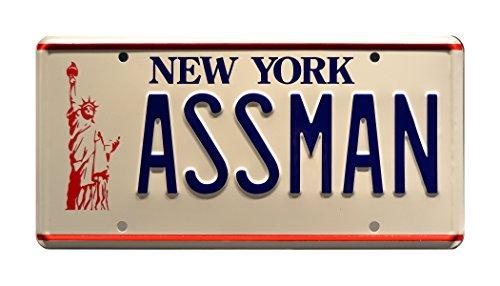 Celebrity Machines Seinfeld | Assman | Metal Stamped License Plate