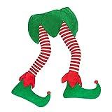 AK-XING Falda de árbol de Navidad, 46 pulgadas suave de Navidad elfo pie árbol falda adornos, delantal de árbol de Navidad, fiesta de fiesta decoración del coche