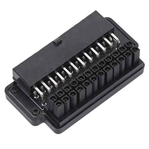 Dilwe ATX 24Pin Buchse auf 24pin Stecker 90 Grad Netzteil Mainboard Motherboard, PC Mainboard Netzteil für Desktops PC-Netzteil