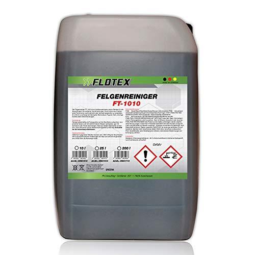 Flotex Limpiador de Llantas Concentrado, 25L - Limpiador de Llantas para Todo Tipo de Llantas, Limpia Incluso la Suciedad más Resistente y la película de óxido