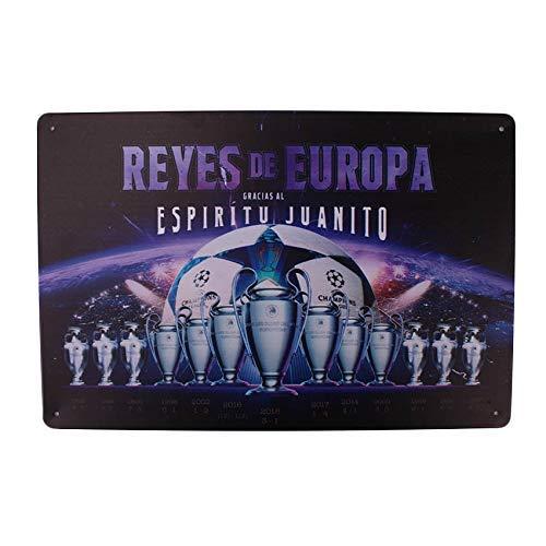 MARQUISE & LOREAN Placas Decorativas Pared Real Madrid Chapas Metálicas del Campeón Europa Si Eres Fiel Seguidor Mira Aquí