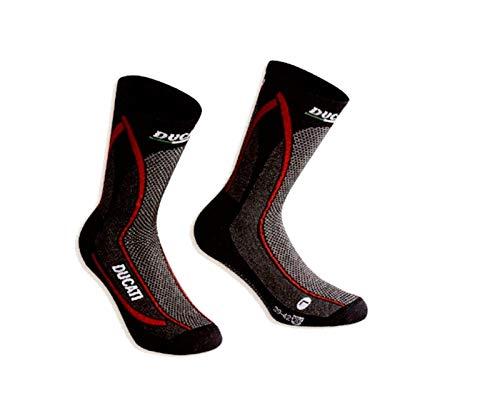 Ducati 98103863 Corse Funktionssocken Socken Strümpfe COOL DOWN schwart-rot (43/46)