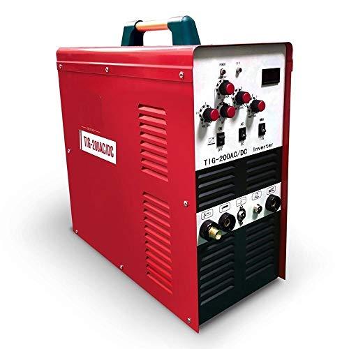 Fácil Soldadura- Soldadora TIG Soldadora de 200 Amp. Máquina de Soldadura Inverter AC/DC Pulso Soldadora de Alta Frecuencia Con Tecnología IGBT Para Aluminio,Soldador