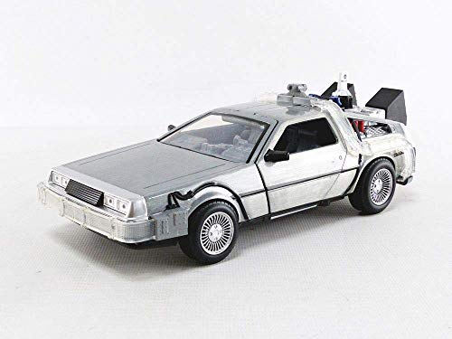 Jada Toys Back to The Future II Hollywood Rides Diecast Model 1/24 Delorean Time Machine