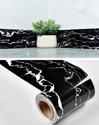 Eenvoudige waterdichte marmer taille muur sticker vensterbank vloer muur rand sticker zelfklevende effen kleur basisbord 5mx10cm