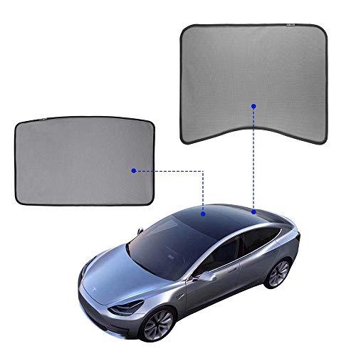 LFOTPP Model 3 Auto-zonwering, voorruit parasols, zonneschermen UV-bescherming zwart (2 stuks)