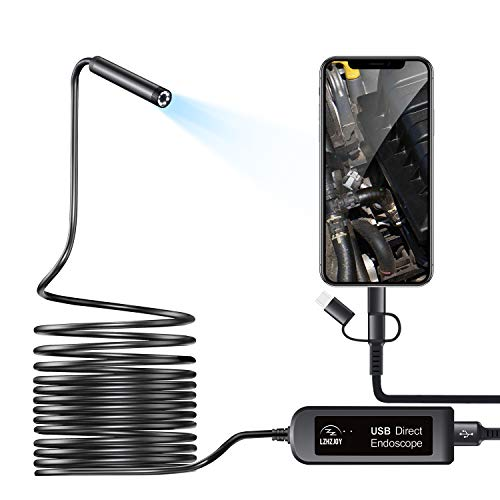 LZHZJOY Endoscope Camera,Car Inspection Camera, Android and iOS Phones/Tablets Home Inspection Camera USB Endoscope Camera 2 Million HD IP67 Waterproof (11.5FT)