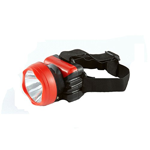 [ROUGE] Mini lampe frontale colorée pour camping/pêche/randonnée/cyclisme