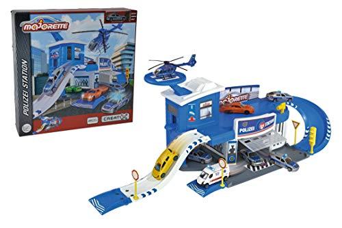 Majorette 212050012 - Creatix Polizei-Parkgaragen Station, Polizeistation-Set, Maße: 72 x 30 x 22 cm
