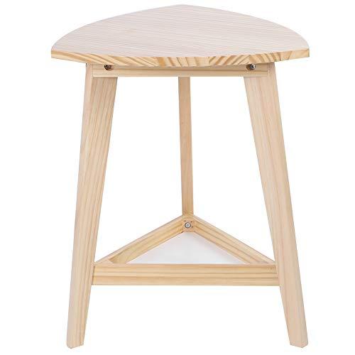 AYNEFY Kaffee Tisch,Sofatisch Couchtisch Eleganter dreieckiger Teetisch-Eckschreibtisch im modernen Stil mit Regal für Wohnzimmer Schlafzimmer
