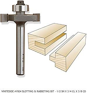 Whiteside Router Bits 1924 Rabbeting, Biscuit Joining and Slotting Bit with 1-1/4-Inch Large Diameter 3/8-Inch Cutting Depth