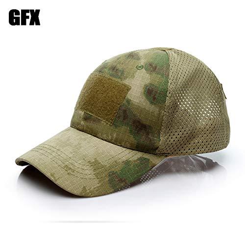 BBYaki-hat Militaire Tactique Baseball Vent Cap Unisexe Armée Camouflage Chapeau Pointu Taille Réglable pour Wargame Chasse Pêche en Plein Air Jeux,GCP