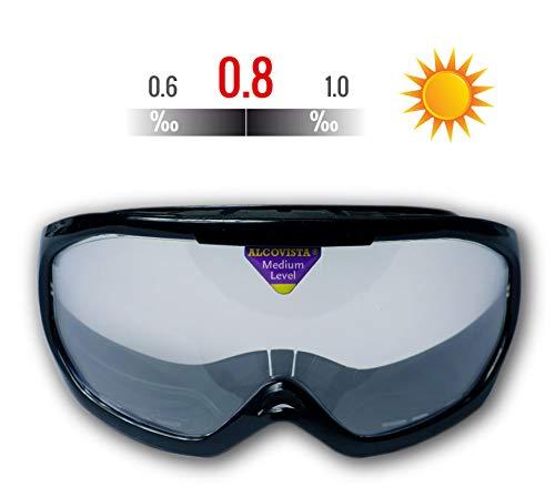 ORIGINAL ALCOVISTA® Rauschbrille - Alkoholbrille TagVersion - Simulation zwischen 0,6 ‰ und 1,0 ‰ - Verkehrswacht, Schule, Polizei, Alkoholprävention